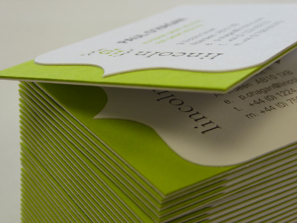 The business of business cards embellishing group using both the diecut and duplex techniques together reheart Images