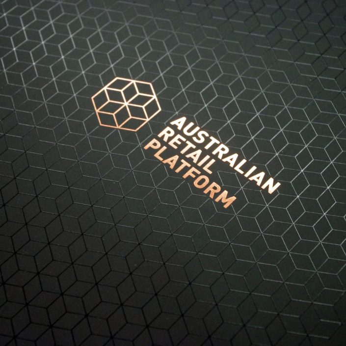 Book Cover - Bronze Foil and Spot UV on Black Uncoated
