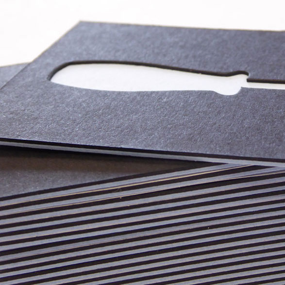 Duplex and die cut for bespoke business cards