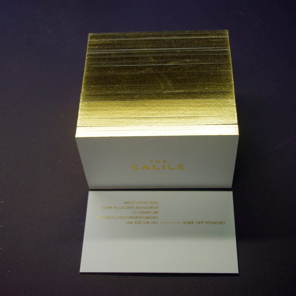Edge gilding and edge painting embellishing group business cards gold edge gilding adds light colourmoves